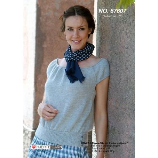 Sweater Med Raglan Og V-Hals 87602