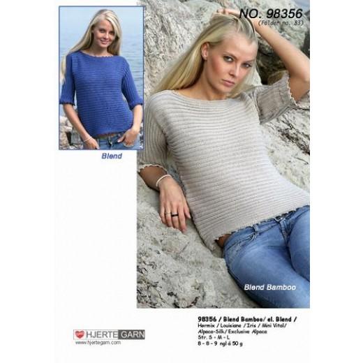 Bluse Med Kort Ærme 98349