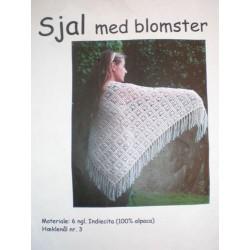 Hæklet Sjal Med Blomster 4