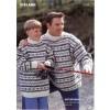 Islandsk Sweater Med To Farver 97059